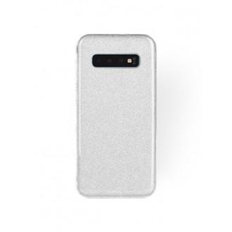 "Sidabrinis blizgantis silikoninis dėklas Samsung Galaxy G973 S10 telefonui ""Shining"""