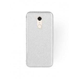 "Sidabrinis blizgantis silikoninis dėklas Xiaomi Redmi 5 telefonui ""Shining"""