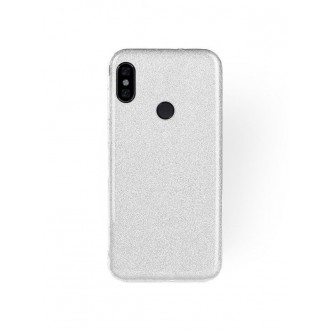"Sidabrinis blizgantis silikoninis dėklas Xiaomi Redmi Note 5 Pro telefonui ""Shining"""