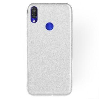 "Sidabrinis blizgantis silikoninis dėklas Xiaomi Redmi Note 7 / Note 7 Pro telefonui ""Shining"""