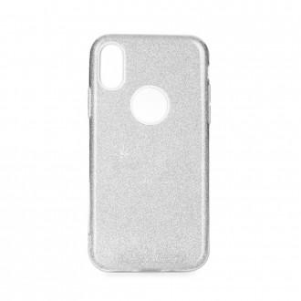 """Sidabrinis blizgantis silikoninis dėklas """"Shining"""" telefonui iPhone 5 / 5G / 5S / SE / 6C"""