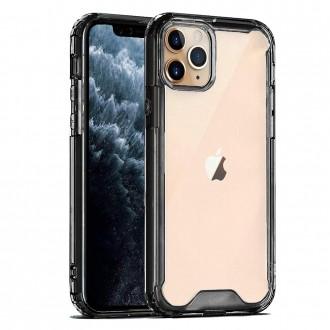Skaidrus, juodais kraštais, dėklas ''Protect Acrylic'' telefonui Samsung S21 Plus