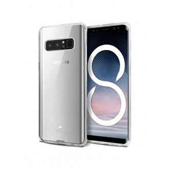 "Skaidrus dėklas Mercury Goospery ""Jelly Clear"" Samsung Galaxy N950 Note 8 telefonui"