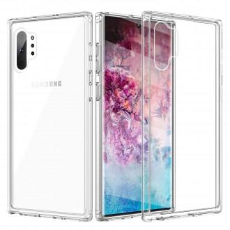Skaidrus plonas 1,0mm silikoninis dėklas Samsung Galaxy Note 10 Plus telefonui