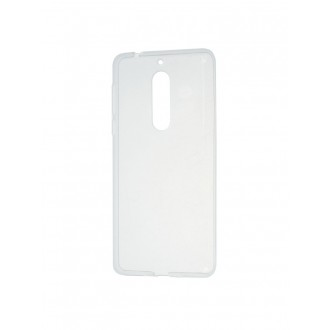 Skaidrus plonas 0,3mm silikoninis dėklas Nokia 5 telefonui