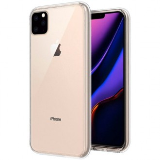 "Skaidrus silikoninis dėklas Apple iPhone 11 Pro telefonui ""Mercury Goospery Jelly Clear"""
