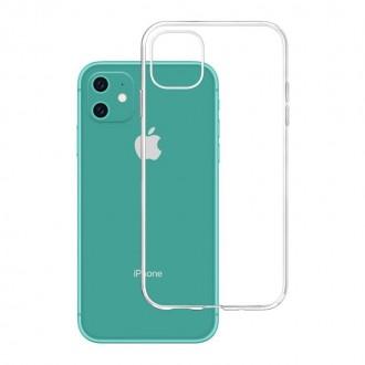 """Skaidrus silikoninis dėklas Apple Iphone 11 telefonui """"3MK"""" 1,2mm"""