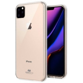 "Skaidrus silikoninis dėklas Apple iPhone 11 Pro Max telefonui ""Mercury Goospery Jelly Clear"""