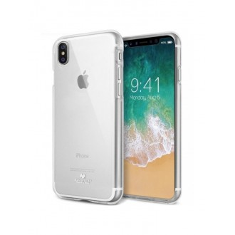 "Skaidrus silikoninis dėklas Apple iPhone XR telefonui ""Mercury Goospery Jelly Clear"""