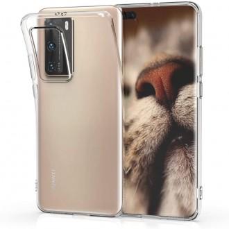 """Skaidrus silikoninis dėklas Huawei P40 Pro telefonui """"Mercury Goospery Jelly Clear"""""""