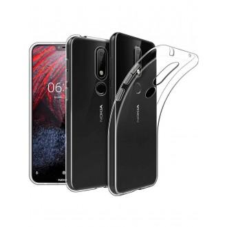 """Skaidrus silikoninis dėklas Nokia 3.1 Plus 2018 telefonui """"Clear 0.5mm"""""""