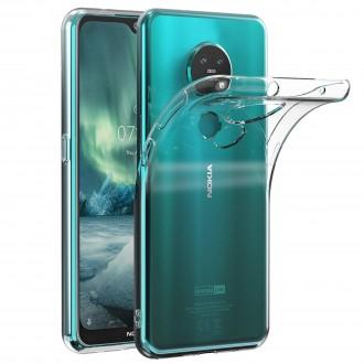"""Skaidrus silikoninis dėklas Nokia 6.2 / 7.2 telefonui """"Clear 1.0mm"""""""