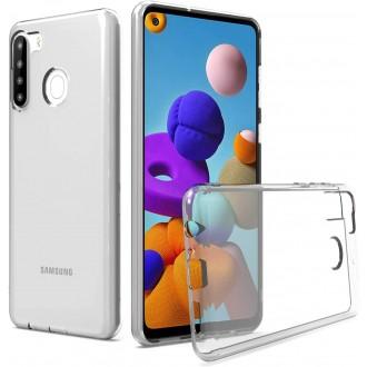 """Skaidrus silikoninis dėklas Samsung Galaxy A21 telefonui """"Mercury Goospery Jelly Clear"""""""