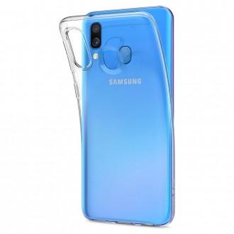 "Skaidrus silikoninis dėklas Samsung Galaxy A405 A40 telefonui ""Clear"" 1,0mm"