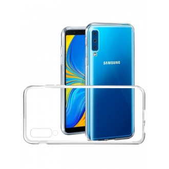 "Skaidrus silikoninis dėklas Samsung Galaxy A705 A70 telefonui ""Clear"" 1,0mm"