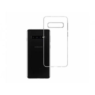 """Skaidrus silikoninis dėklas Samsung Galaxy G973 S10 telefonui """"3MK"""" 1,2mm"""