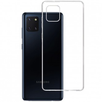 """Skaidrus silikoninis dėklas Samsung Galaxy Note 10 Lite / A81 telefonui """"3MK"""" 1,2mm"""