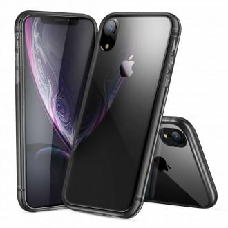 "Skaidrus su pilku apvadu silikoninis dėklas Apple iPhone XR telefonui Dux Ducis ""Light"""