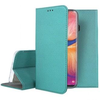 "Smaragdinės spalvos atverčiamas dėklas Samsung Galaxy A202F A20e telefonui ""Smart Magnet"""