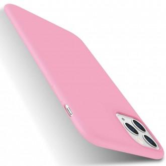Šviesiai rožinės spalvos dėklas X-Level Dynamic Apple iPhone 11 Pro Max telefonui