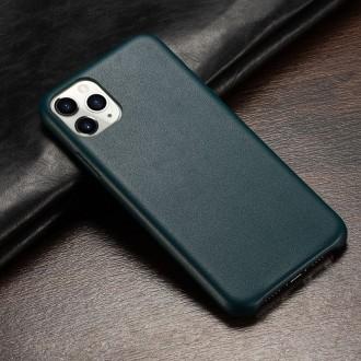 Tamsaus turkio spalvos dirbtinės odos dėklas telefonui Iphone 12 / 12 Pro