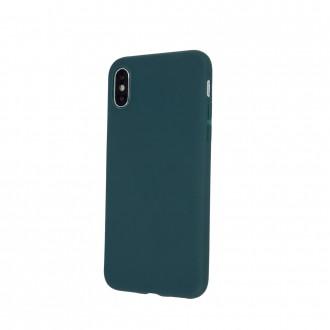 Tamsiai žalias silikoninis dėklas ''Rubber TPU'' telefonui Samsung A22 5G