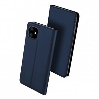 """Tamsiai mėlynas atverčiamas dėklas Apple iPhone 11 telefonui """"Dux Ducis Skin"""""""