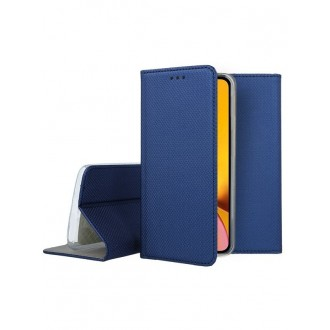 """Tamsiai mėlynas atverčiamas dėklas Apple iPhone XR telefonui """"Smart Magnet"""""""