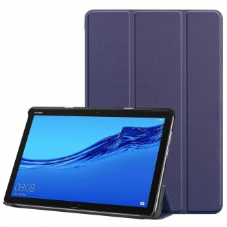 """Tamsiai mėlynas atverčiamas dėklas Huawei MediaPad M5 Lite 10.1  """"Smart Leather"""""""
