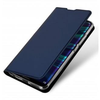 """Tamsiai mėlynas atverčiamas dėklas Huawei P Smart Pro 2019 / Y9s telefonui """"Dux Ducis Skin"""""""