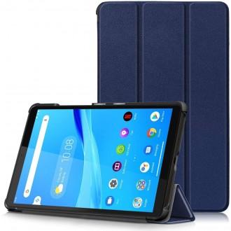 """Tamsiai mėlynas atverčiamas dėklas """"Smart Leather"""" Lenovo IdeaTab M10 X306X 4G 10.1"""