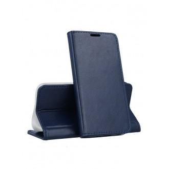 "Tamsiai mėlynas atverčiamas dėklas Samsung Galaxy A202 A20e telefonui ""Magnetic book"""