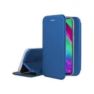 """Tamsiai mėlynas atverčiamas dėklas Samsung Galaxy A405 A40 telefonui """"Book Elegance"""""""