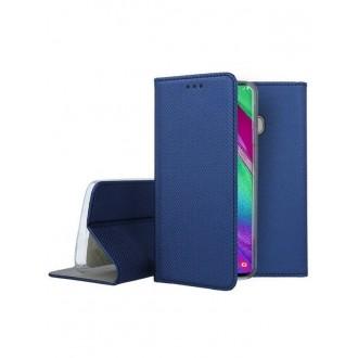 """Tamsiai mėlynas atverčiamas dėklas Samsung Galaxy A405 A40 telefonui """"Smart Magnet"""""""
