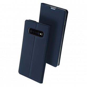 """Tamsiai mėlynas atverčiamas dėklas Samsung Galaxy G973 S10 telefonui """"Dux Ducis Skin"""""""