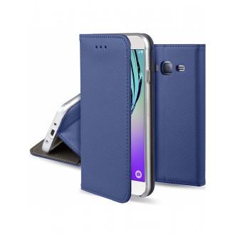 """Tamsiai mėlynas atverčiamas dėklas Samsung Galaxy J320 J3 2016 telefonui """"Smart Magnet"""""""