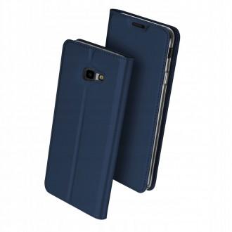 """Tamsiai mėlynas atverčiamas dėklas Samsung Galaxy J415 J4 Plus 2018 telefonui """"Dux Ducis Skin"""""""