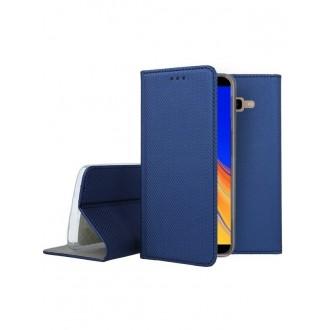 """Tamsiai mėlynas atverčiamas dėklas Samsung Galaxy J415 J4 Plus 2018 telefonui """"Smart Magnet"""""""
