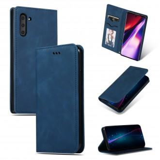 """Tamsiai mėlynas atverčiamas dėklas Samsung Galaxy Note 20 telefonui """"Business Style"""""""