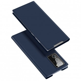 """Tamsiai mėlynas atverčiamas dėklas Samsung Galaxy Note 20 Ultra telefonui """"Dux Ducis Skin"""""""