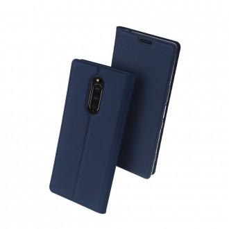 """Tamsiai mėlynas atverčiamas dėklas Sony Xperia 1 telefonui """"Dux Ducis Skin"""""""