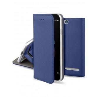 """Tamsiai mėlynas atverčiamas dėklas Xiaomi Redmi 5A telefonui """"Smart Magnet"""""""