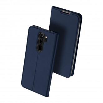"""Tamsiai mėlynas atverčiamas dėklas Xiaomi Redmi Note 8 Pro telefonui """"Dux Ducis Skin"""""""