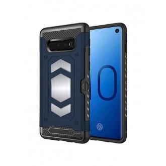 "Tamsiai mėlynas dėklas Samsung Galaxy G970 S10e telefonui ""Defender Magnetic"""