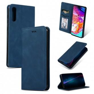 """Tamsiai mėlynas atverčiamas dėklas Samsung Galaxy A705 A70 telefonui """"Business Style"""""""