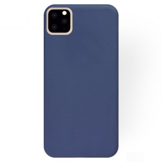 "Tamsiai mėlynas silikoninis dėklas Apple iPhone 11 Pro Max telefonui ""Liquid Silicone"" 2.0mm"