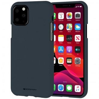 "Tamsiai mėlynas silikoninis dėklas Apple iPhone 11 Pro Max telefonui ""Mercury Soft Feeling"""