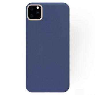 """Tamsiai mėlynas silikoninis dėklas Apple iPhone 11 Pro telefonui """"Liquid Silicone"""""""