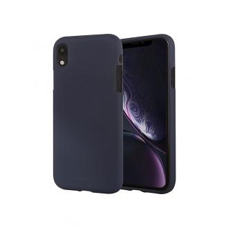"""Tamsiai mėlynas silikoninis dėklas Apple iPhone XR telefonui """"Mercury Soft Feeling"""""""
