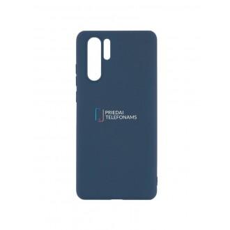 """Tamsiai mėlynas silikoninis dėklas Huawei P30 Pro telefonui """"Mercury Soft Feeling"""""""